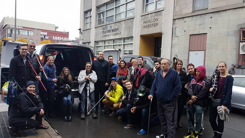The brave participants gather for a photo at the end of the walk.