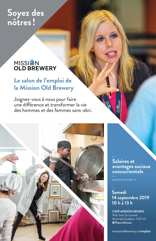 la mission old brewery tient un salon de l u0026 39 emploi